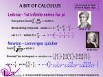 a bit of calculus