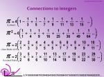 connections to integers