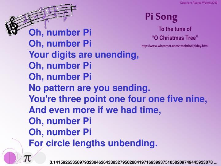 Pi Song