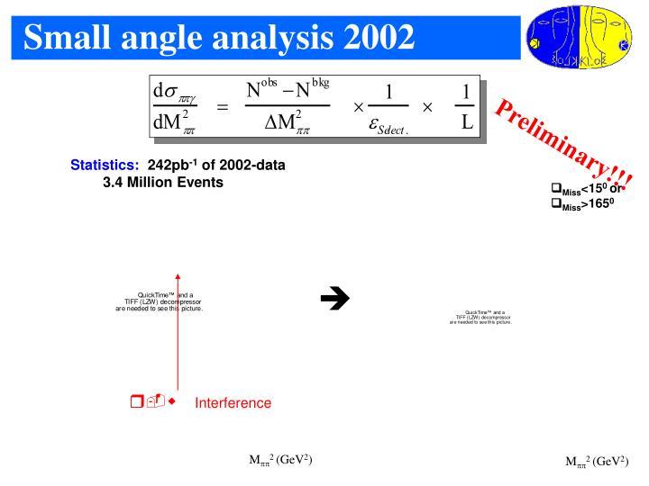 Small angle analysis 2002