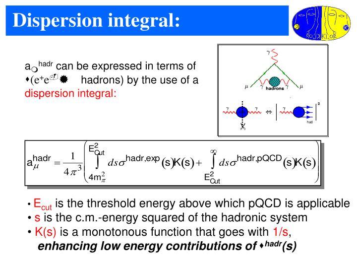 Dispersion integral