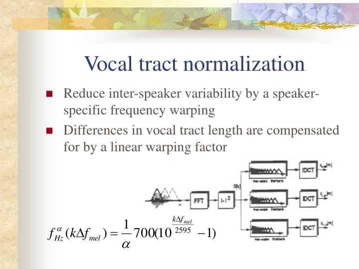 Vocal tract normalization