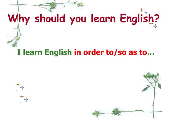 Why learn english ? - online presentation