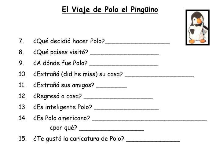 El Viaje de Polo el Pingüino