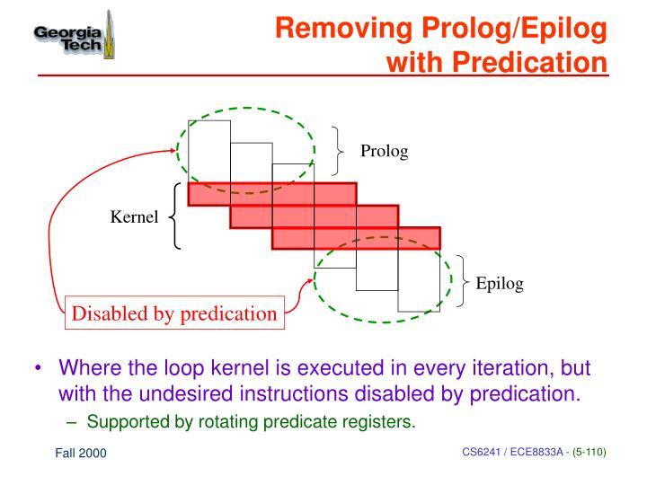 Removing Prolog/Epilog