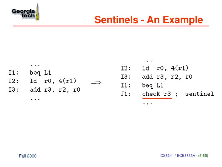 Sentinels - An Example