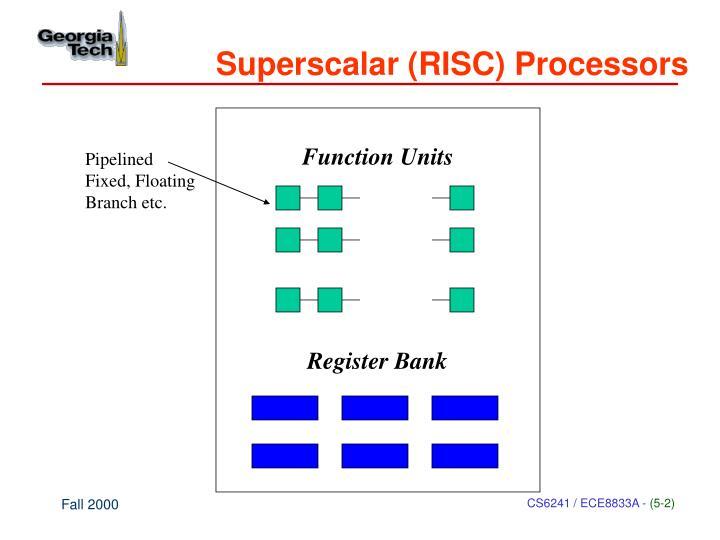 Superscalar (RISC) Processors