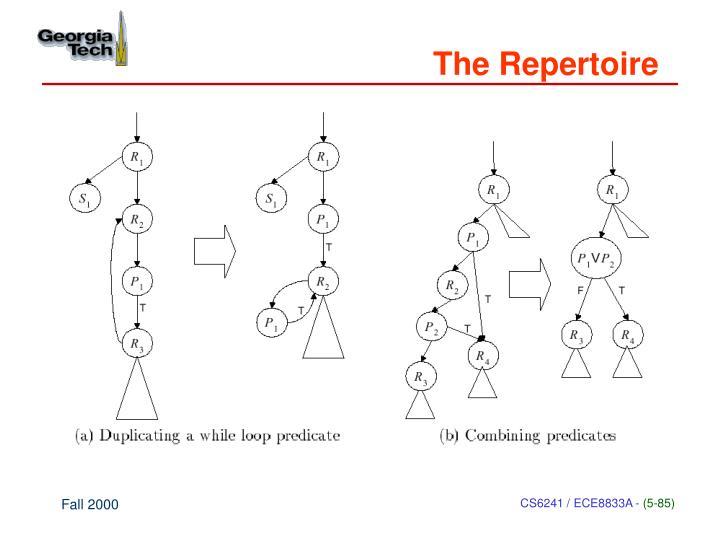 The Repertoire