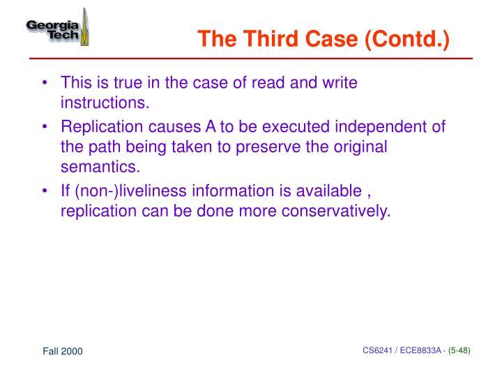 The Third Case (Contd.)