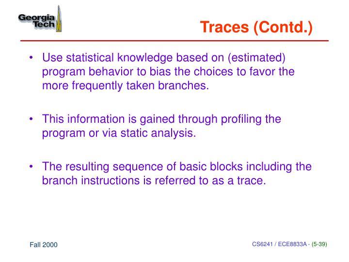 Traces (Contd.)
