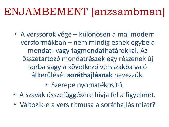 ENJAMBEMENT [anzsambman]