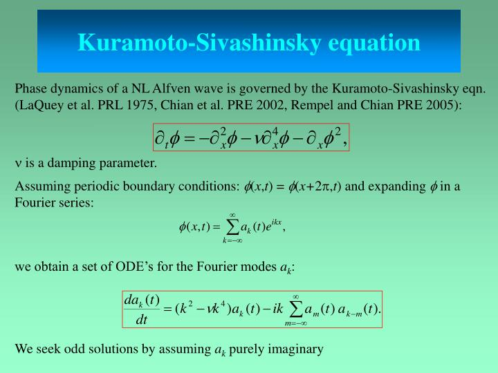 Kuramoto-Sivashinsky equation