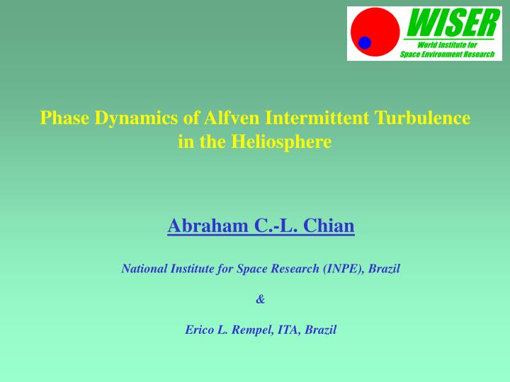 Phase dynamics of alfven intermittent turbulence in the heliosphere