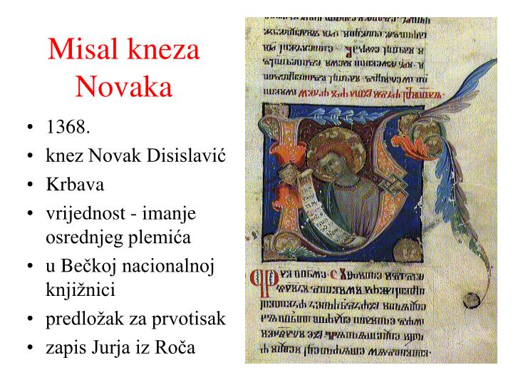 Misal kneza Novaka