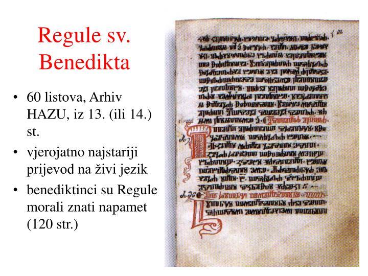 Regule sv. Benedikta