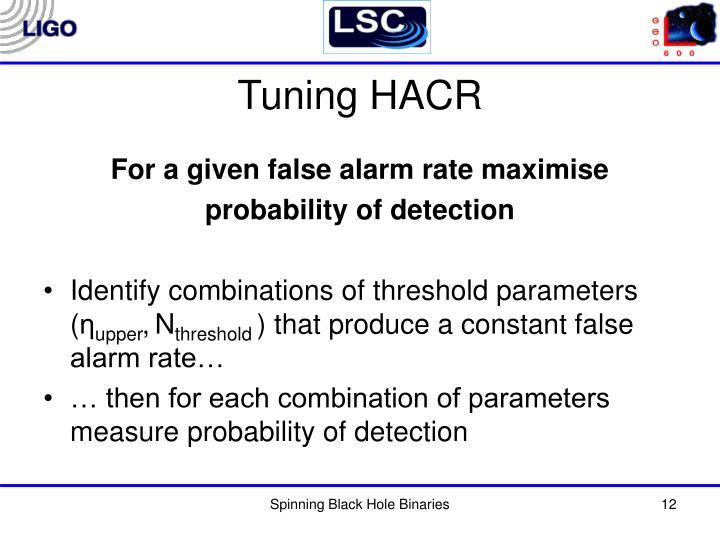 Tuning HACR