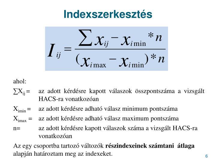 Indexszerkesztés