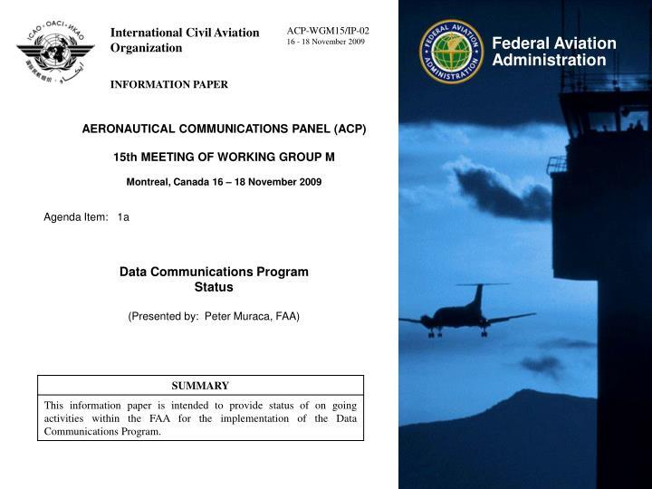 AERONAUTICAL COMMUNICATIONS PANEL (ACP)