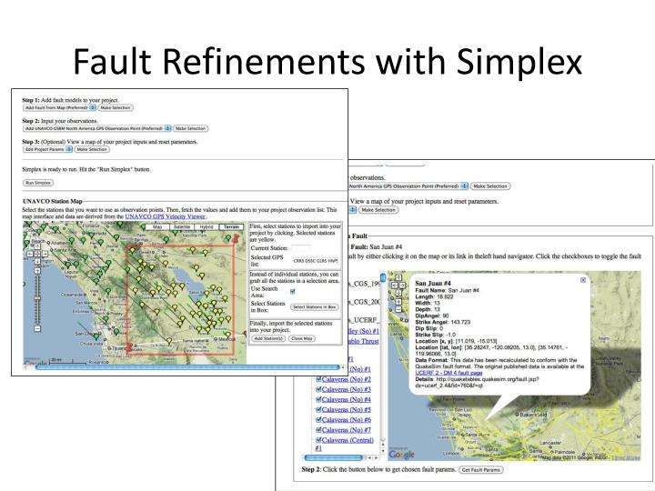 Fault Refinements with Simplex
