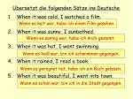 bersetzt die folgenden s tze ins deutsche