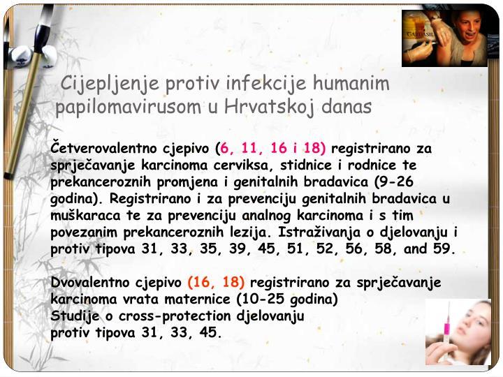 Cijepljenje protiv infekcije humanim papilomavirusom u Hrvatskoj danas
