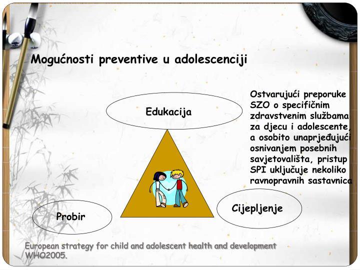 Mogućnosti preventive u adolescenciji