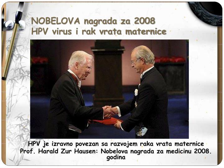 NOBELOVA nagrada za 2008