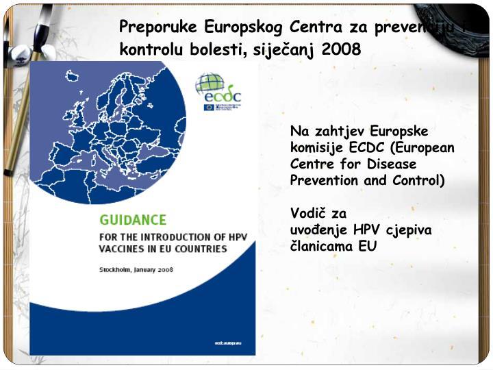 Preporuke Europskog Centra za prevenciju i
