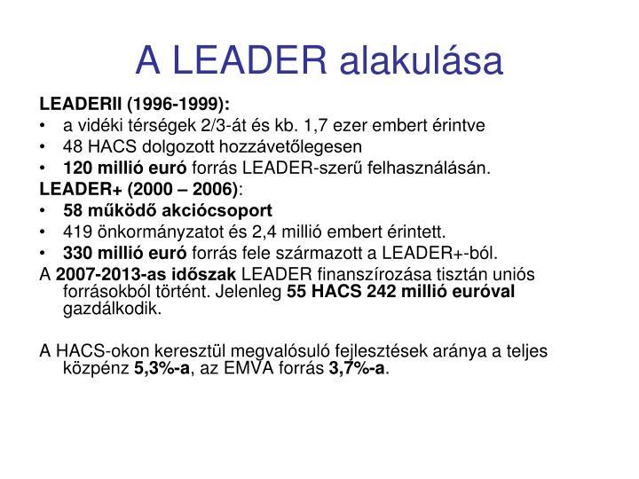 A LEADER alakulása