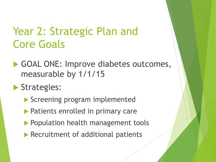 Year 2: Strategic Plan and