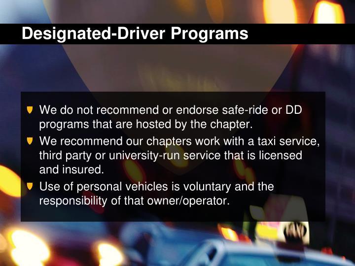 Designated-Driver Programs