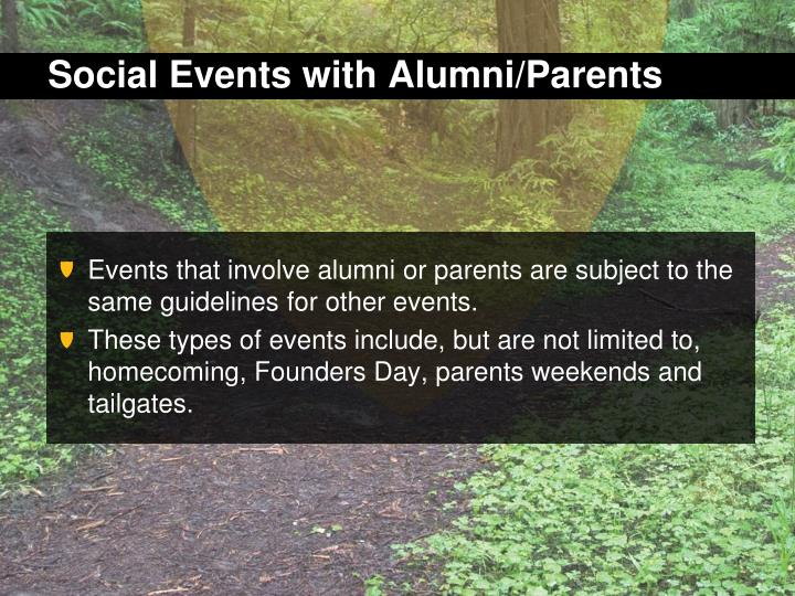 Social Events with Alumni/Parents