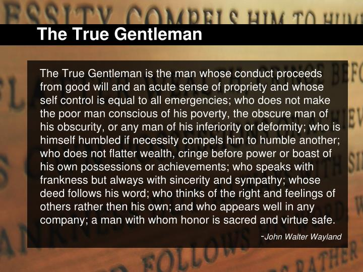 The True Gentleman