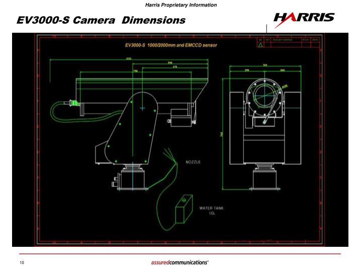 EV3000-S Camera  Dimensions