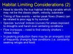 habitat limiting considerations 2