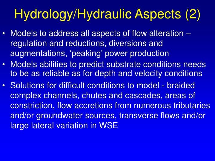 Hydrology/Hydraulic Aspects (2)