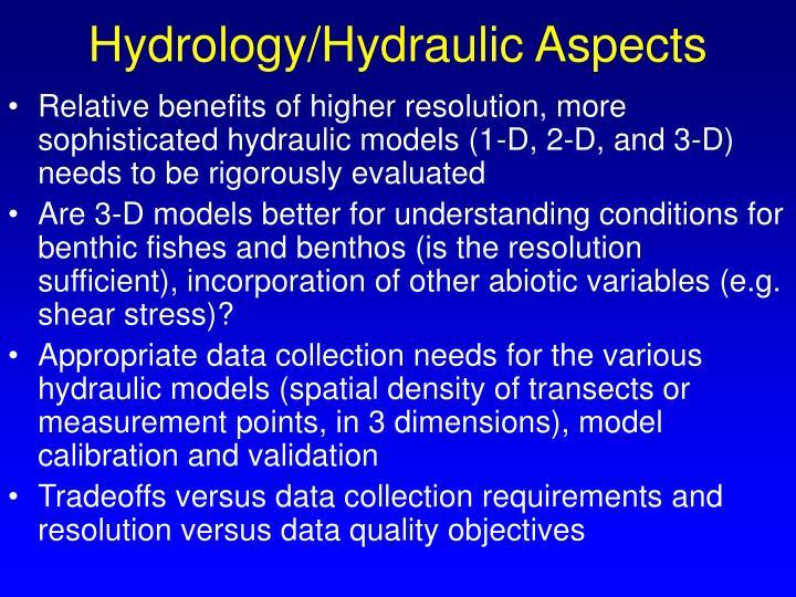 Hydrology/Hydraulic Aspects