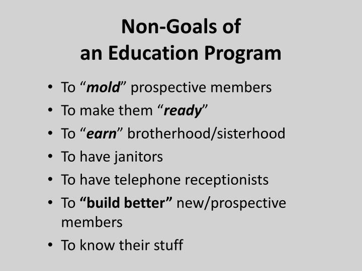 Non-Goals of