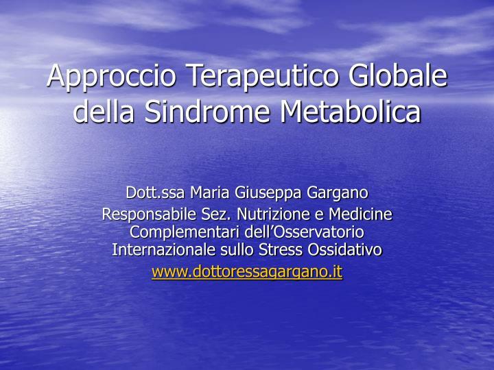 Approccio Terapeutico Globale