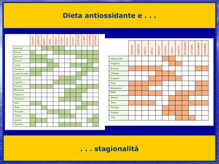 Dieta antiossidante e . . .