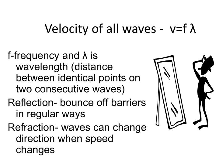 Velocity of all waves -  v=f λ