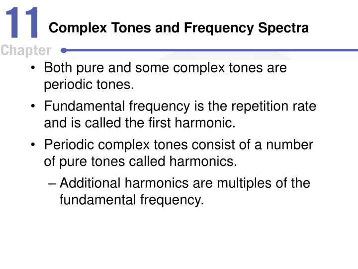 Complex Tones and Frequency Spectra