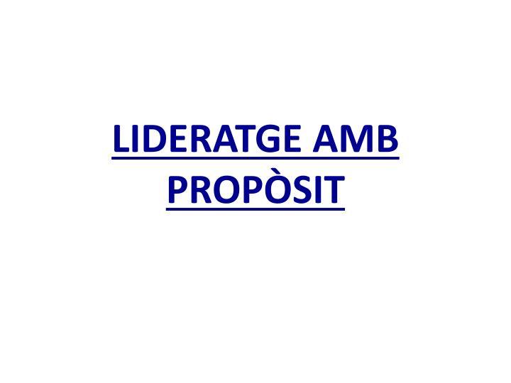 LIDERATGE AMB