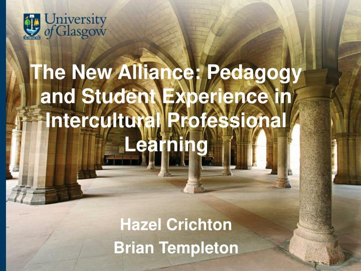 The new alliance pedagogy and student experience in intercultural professional learning