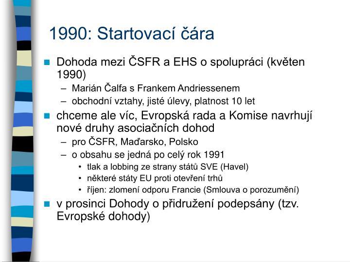1990: Startovací čára