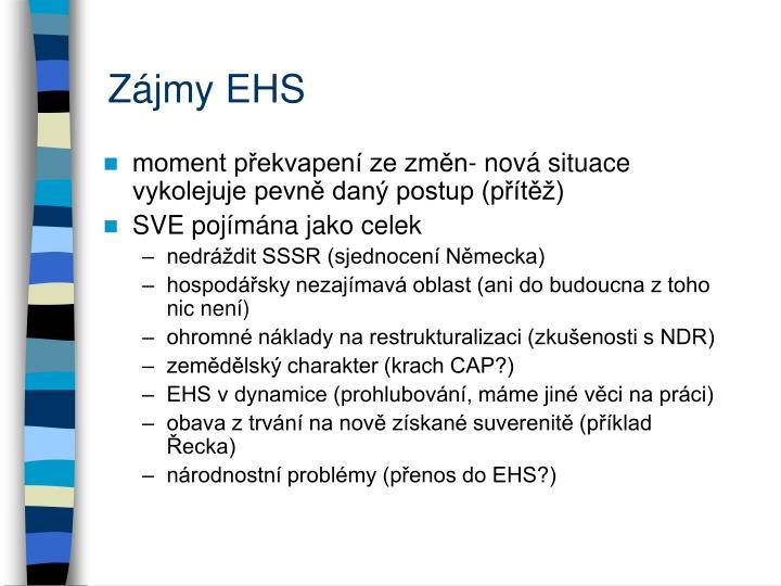 Zájmy EHS