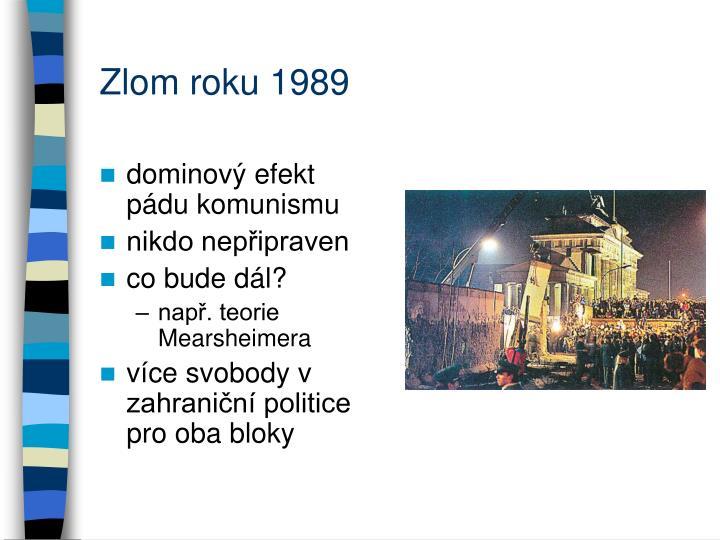 Zlom roku 1989