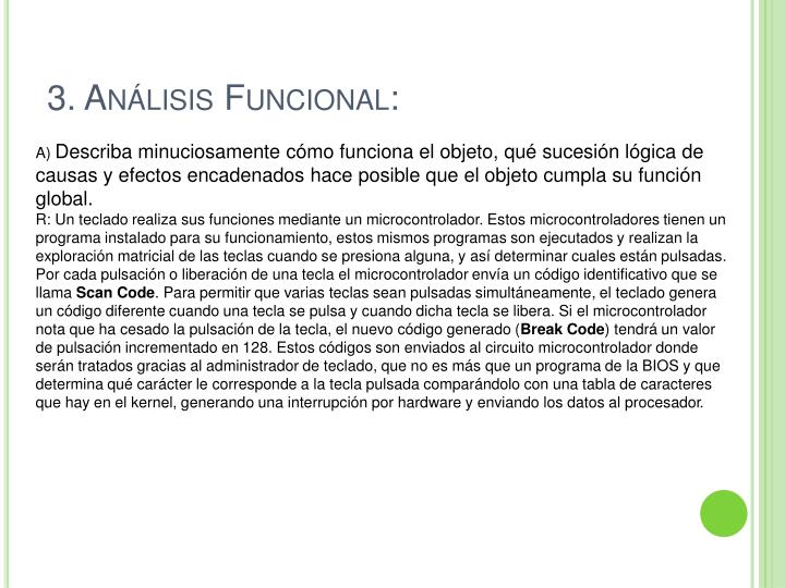 3. Análisis Funcional