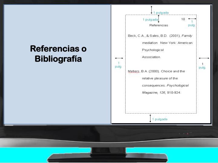 Referencias o Bibliografía