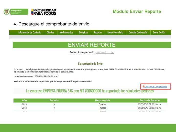 Módulo Enviar Reporte